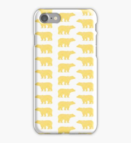 Gold Bears - foil glitter sparkle gold pattern print bear golf golfing nature trendy hipster sports iPhone Case/Skin