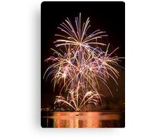 Sydney Harbour - New Years Eve - Midnight Fireworks  Canvas Print
