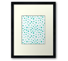 mint dots watercolor painting abstract minimal dots polka dots pattern design cell phone case gifts Framed Print