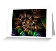 Honey Comb Spiral Greeting Card