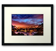 Sydney Harbour - Before New Year's Eve Fireworks Framed Print