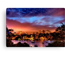 Sydney Harbour - Before New Year's Eve Fireworks Canvas Print