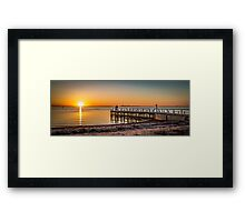 Point Richards Sunset Framed Print
