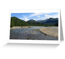 SURROUNDED BY ALASKAN WILDERNESS Greeting Card