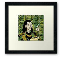 Loki Check List Framed Print