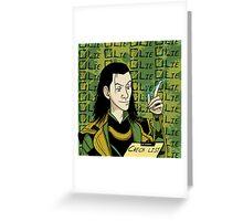 Loki Check List Greeting Card