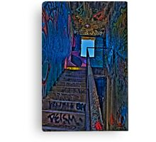 Stairwell in The Centre of Graffiti - SYDNEY Canvas Print