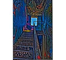 Stairwell in The Centre of Graffiti - SYDNEY Photographic Print