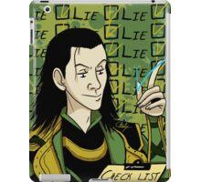 Loki Check List iPad Case/Skin