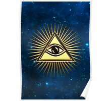 Eye Of Providence - All Seeing Eye Of God - Symbol Omniscience Poster