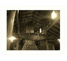 Log Lodge Art Print