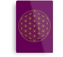 Flower of life - Gold, healing & energizing Metal Print