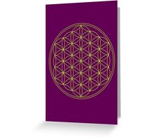 Flower of life - Gold, healing & energizing Greeting Card