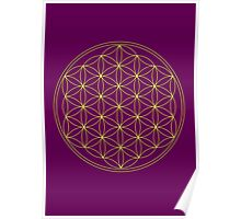 Flower of life - Gold, healing & energizing Poster