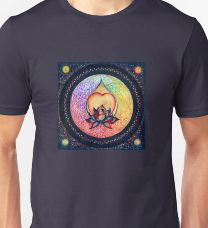 """The Drop of Golden Rain"" - Mandala of Wealth Unisex T-Shirt"