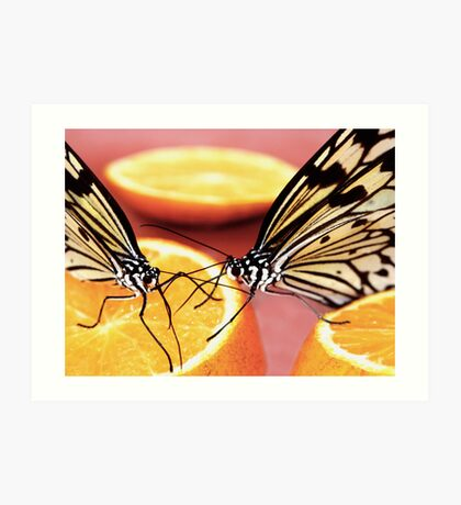this orange taste better with you here... Art Print