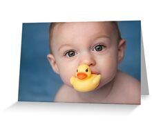 Rubber Ducky and Baby Boy Greeting Card