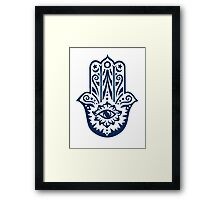 Hamsa - Hand of Fatima, protection amulet, symbol of strength and happiness Framed Print