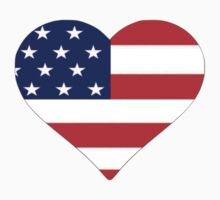 American Flag Heart by parakeetart