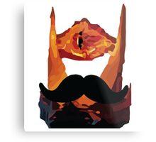 Sauron Mustache LOTR Metal Print