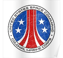 United States Colonial Marine Corps Insignia - Aliens - Dirty Poster
