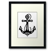 Anchor & Sacred Rose, Symbol Hope, Faith & Love Framed Print