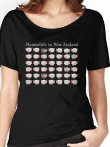 Meanwhile in NEW ZEALAND funny sheep Women's Relaxed Fit T-Shirt