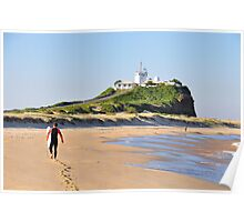 LONE SURFER - NOBBY'S BEACH NEWCASTLE NSW Poster