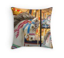 I Love The Carousel! Throw Pillow