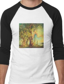 An Encounter at the Edge of the Forest Men's Baseball ¾ T-Shirt