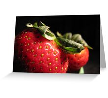Strawberry Spectacle Greeting Card