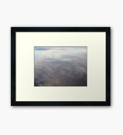 Clouds in water Framed Print