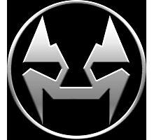 Rubbernorc NOGL Emblem - Silver Photographic Print