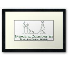 Energetic Communities Framed Print