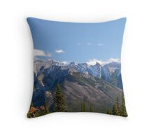 cascade range, Banff National Park, Canadian Rockies Throw Pillow