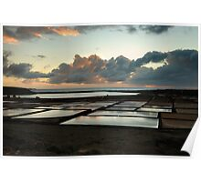 Salt lakes in Lanzarote Poster