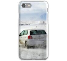 Icelandic Open Road with Car iPhone Case/Skin