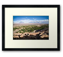 Rio San Pedro from the Quitor fortress Framed Print