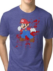 Mario - Super Smash Bros Tri-blend T-Shirt