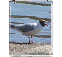 Screaming seagull on the beach iPad Case/Skin