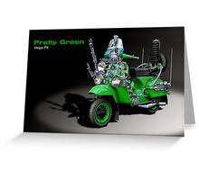 Vespa PX 125 Pretty Green Greeting Card