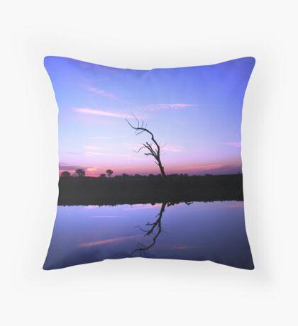 Blue Dam Throw Pillow