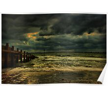 A Groyne In HDR Poster