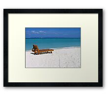 Sun Lounger on Ko Lipe, Thailand Framed Print