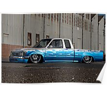 Air bagged Toyota Hilux Poster