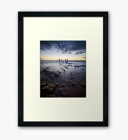At the going down of the sun... Framed Print