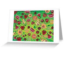 Crazy Fruit Madness Greeting Card