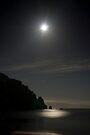 Full moon over Totaranui Beach 2 by Paul Mercer