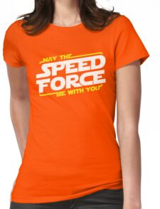 May The Speed Force Be With You Womens Fitted T-Shirt