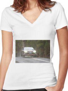 Steve Glenney's Flying GTR Women's Fitted V-Neck T-Shirt